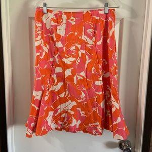 Rickie Freeman for Teri Jon Floral Print Skirt 10